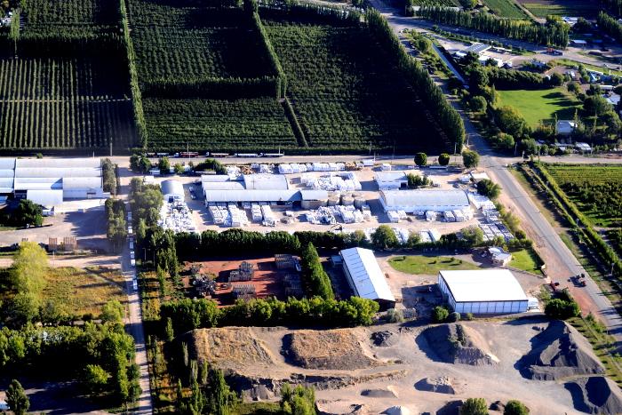 Aerea del deposito regional de arenas para fractura hidraulica Allen- Rio Negro