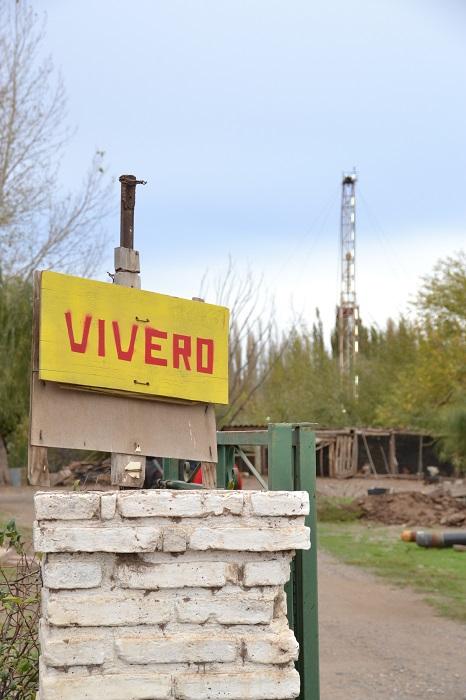 Vivero en donde vive Ruben Ibañez afectado por la explosión del pozo gasifero EFO 141