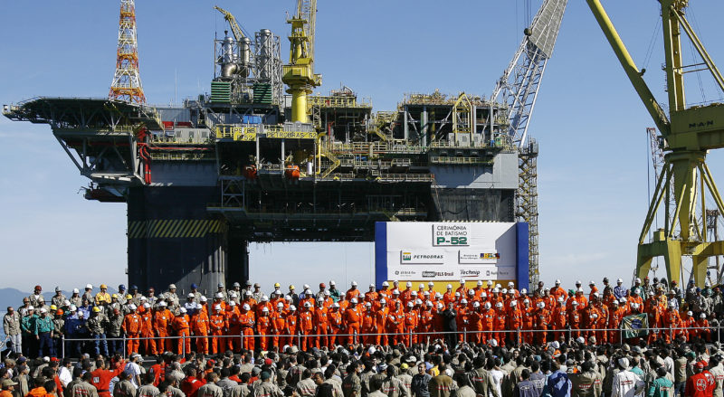 Inauguracion plataforma de Petrobras
