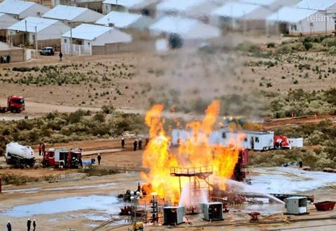 Foto Telam. Explosión de pozo gasifero en Plottier.(2013)