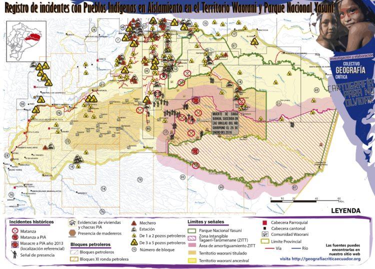 Mapa confeccionado por Paola Maldonado y Braulio Gutierrez del Colectivo de Geografia Critica.