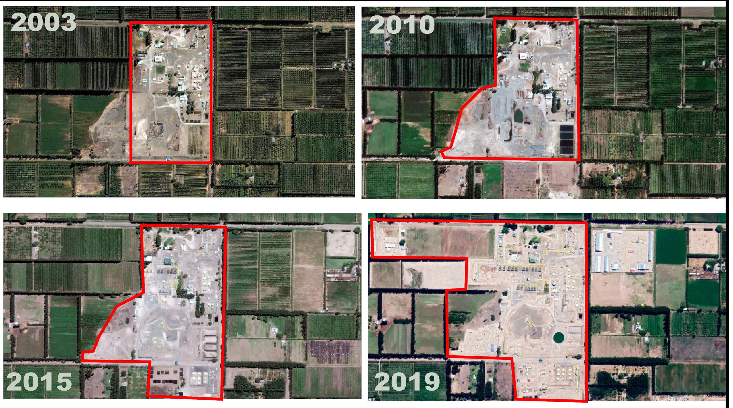 Planta Estación Fernández Oro 2003-2019. Colaboración Javier Grosso